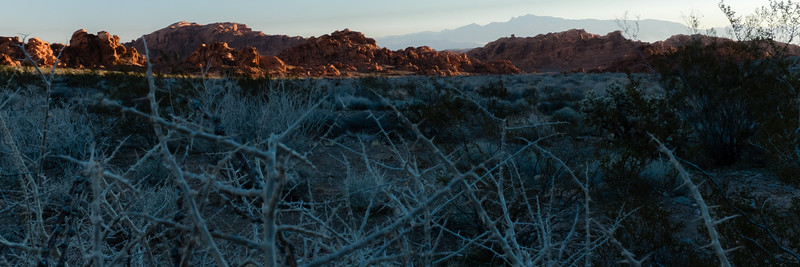 West entrance of Valley of Fire State Park, at sunrise.